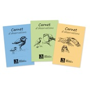 Carnets d'observations LPO, lot de 3