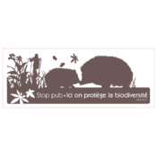 "Sticker Stop Pub LPO ""Ici on protège la Biodiversité"", marron"