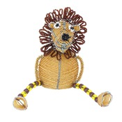 Lion assis en perles